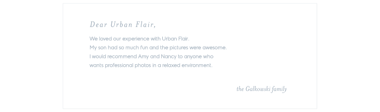 Urban Flair Testimonial - the Galkowski family